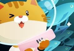 игры кот под водой