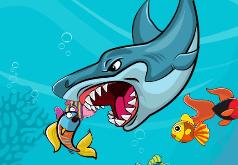 игра акула ест рыбок
