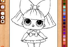 Игра Раскраска Куклы Лол: Дива
