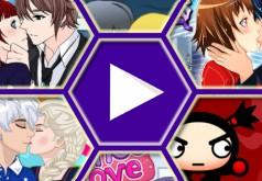 Игры для девочек поцелуи аниме